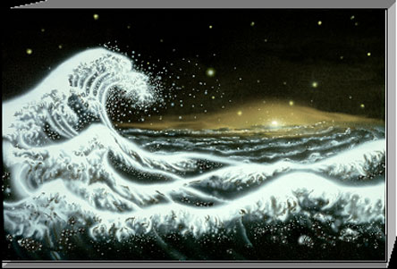'Galactic Wave' painting by Jon Lomberg