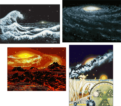 Note Card Set 'Galactic Visions 1'